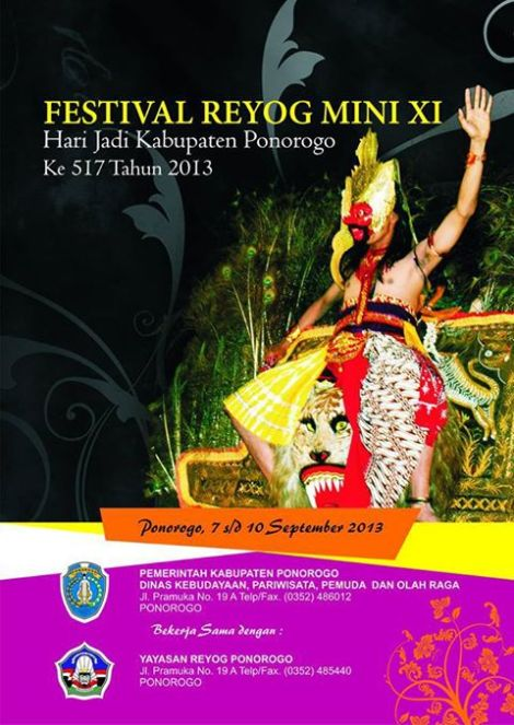 festival reyog mini XI ponorogo 2013