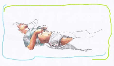 sketsa tidur drawing on paper